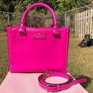 Kate Spade Bright Hot Pink Wellesley Quinn Satchel